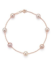 Bloomingdale's Cultured Pink Freshwater Pearl Tin Cup Bracelet In 14K Rose Gold 5.5Mm Pink Rose