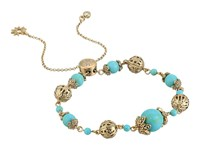 Marchesa Adjustable Slider Bracelet Gold Turquoise Multi Bracelet