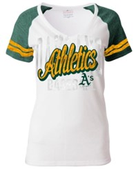 5Th And Ocean Women's Oakland Athletics White Hot T Shirt