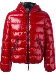 Duvetica Padded Hood Jacket Red