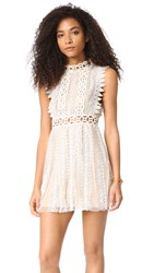 Free People Forever Lace Babydoll Dress Cream
