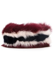 Muveil Fur Belt Multicolour