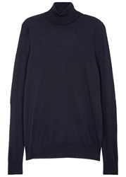 Nn.07 Richard Navy Roll Neck Wool Jumper