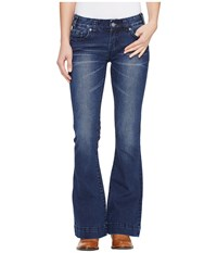 Rock And Roll Cowgirl Trouser Bootcut In Dark Vintage W8 1400 Dark Vintage Women's Jeans Navy