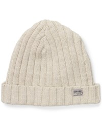 Denim And Supply Ralph Lauren Ribbed Cotton Hat Cream Heather