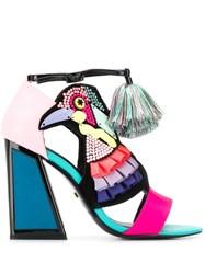 Kat Maconie Bird Multi Studded Heeled Sandals Black