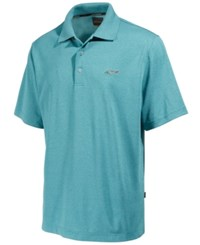 Greg Norman For Tasso Elba Men's 5 Iron Performance Golf Polo Jazzy Teal