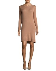 Paper Crown Ribbed Sweater Dress Rose Knit
