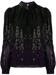 Temperley London Sequined Long Sleeve Blouse 60