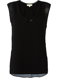 Michael Michael Kors V Neck Tank Top Black