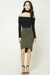 Forever 21 High Low Bodycon Skirt