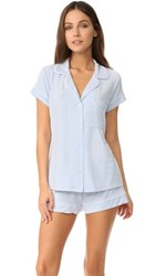 Eberjey Gisele Short Pj Set Water Blue