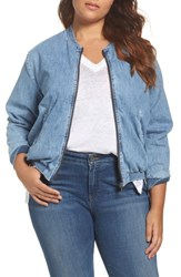 Lucky Brand Plus Size Women's Denim Bomber Jacket Sway
