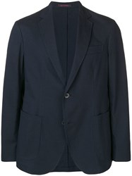 The Gigi Notched Lapel Blazer Jacket Blue