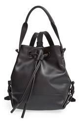 Opening Ceremony 'Mini Izzy' Convertible Leather Backpack Black