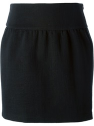 Jil Sander Navy Straight Fit Mini Skirt Black