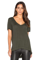 Blank Nyc V Neck Pocket Tee Olive