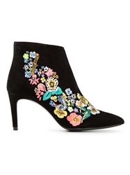 Preen By Thornton Bregazzi 'Norton' Embroidered Boots Black