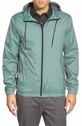 Men's Volcom 'Ermont' Hooded Nylon Jacket Forest