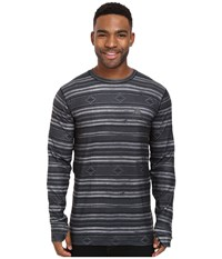 Burton Midweight Crew Faded Stag Stripe Men's Long Sleeve Pullover Black