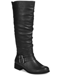 Xoxo Marcel Tall Shaft Riding Boots Women's Shoes Black