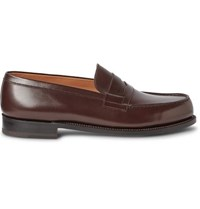 J.M. Weston 180 The Moccasin Leather Loafers Dark Brown