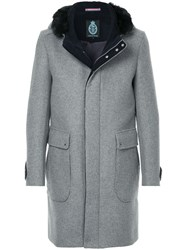 Guild Prime Patch Pocket Coat Nylon Lambs Wool Grey