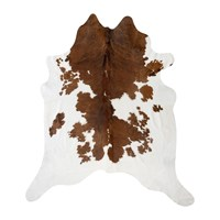 Amara Spotted Cowhide Rug Brown White