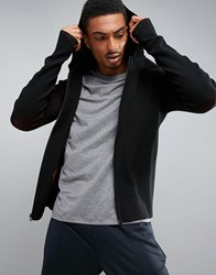 Perry Ellis 360 Sports Full Zip Knit Hooded In Black Black