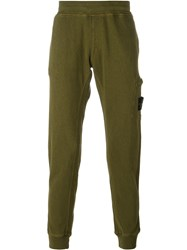 Stone Island Patch Pocket Sweatpants Green