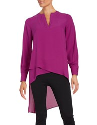 Catherine Malandrino Livy High Low Tunic Morgan Purple