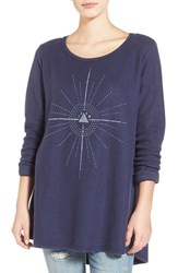 Junior Women's Project Social T 'Pyramid Moon' Swing Pullover