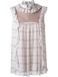 See By Chloe Ruffle Sleeveless Blouse Grey