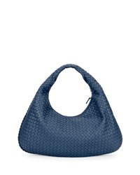 Bottega Veneta Intrecciato Large Hobo Bag Cobalt Blue