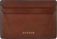 Hayden Men's Money Clip Card Case Brown