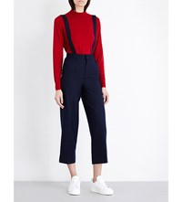 Moandco. Tapered Wool Blend Dungarees Peacoat