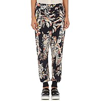 Stella Mccartney Women's Cat And Floral Print Harem Pants Blue