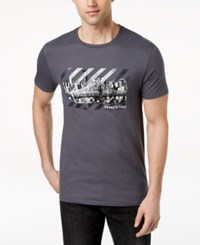 Kenneth Cole New York Men's Cityscape Graphic Print T Shirt Grey