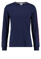 Hype Cyrillic Long Sleeved Top Navy Dark Blue