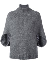 Barba Cropped Sleeves Jumper Grey