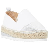 Dune Guest Espadrille Loafers White