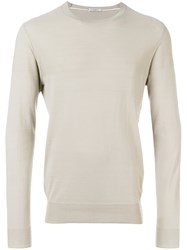 Paolo Pecora Crew Neck Sweater Nude And Neutrals