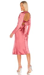 C Meo Collective Time Flew Dress In Pink. Hibiscus