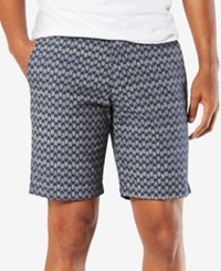 Dockers Slim Fit Patterned 9 Stretch Shorts Abbotts A Montecito Blue