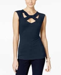 Inc International Concepts Cap Sleeve Cutout Top Only At Macy's