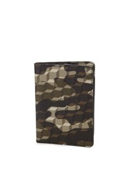 Pierre Hardy Cube And Camouflage Print Passport Holder Green Multi