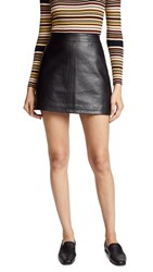 Cupcakes And Cashmere Marrie Leather A Line Skirt Black
