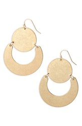 Panacea Circle U Earrings Gold