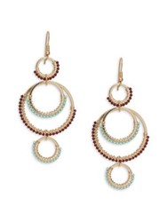 Design Lab Lord And Taylor Beaded Drop Earrings Gold