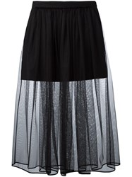 Givenchy Pleated Tulle Skirt Black